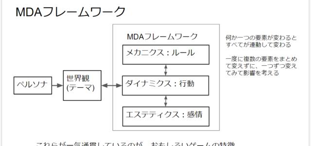 ペルソナと世界観とMDAフレームワーク