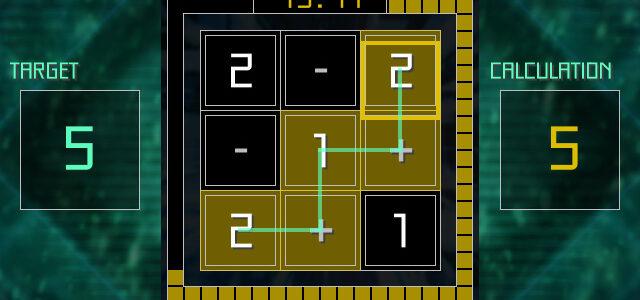 スタイリッシュ算数パズル「EQUALINE」のSteam版が2/8に配信開始